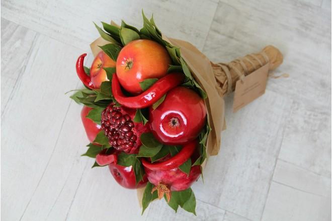 Сделать букет из фруктов своими руками пошаговое фото для начинающих